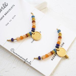 Multicolored Bead Disc Charm Friendship Bracelet
